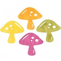 Scattered mushrooms, autumn decorations, lucky mushrooms to decorate orange, yellow, green, pink H3.5 / 4cm W4 / 3cm 72pcs