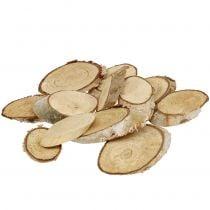 Wooden slices birch oval 4-9cm 500g