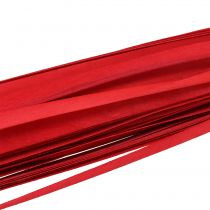 Wooden strips braided ribbon red 95cm - 100cm 50p
