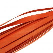 Wooden strips for braiding orange 95cm - 100cm 50p