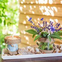Wooden tray white L57.5cm W16cm H3cm 1p