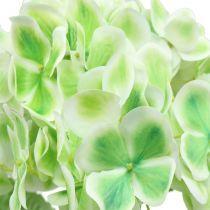 Hydrangea artificial green, white 68cm