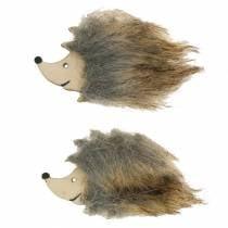 Autumn decoration hedgehog with fur 7cm 24pcs