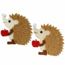 Autumn decoration for scattering and handicrafts hedgehog 8cm 6pcs