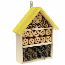 Insect hotel fir wood yellow 21cm H30cm