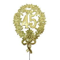 Anniversary numbers gold