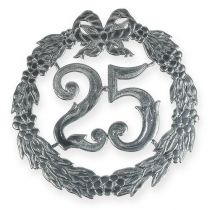 Anniversary number 25 in silver