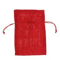 Burlap sacks red 16cm x 24cm 10pcs
