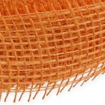 Jute ribbon light orange 5cm 40m