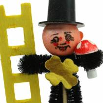 Chimney sweep plug with ladder, lucky guy and pig chenille L16.5cm 36pcs