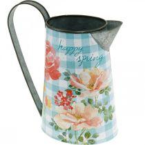 Flower vase deco jug metal vintage garden decoration planter H23cm
