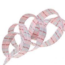 Check ribbon gift ribbon 15mm 15m