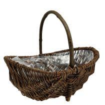 Potato basket 32cm with natural foil