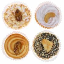 Nut tart artificially sorted 5cm 4pcs
