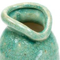 Ceramic vase antique blue H21cm