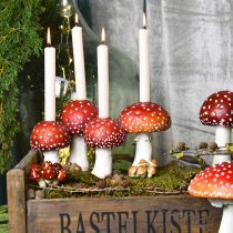 Toadstool candle holder red, white For 4 stick candles 28.5 × 17 × 16cm