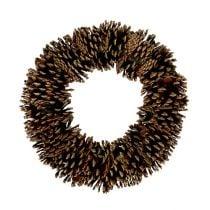 Pine cones round flat Ø30cm