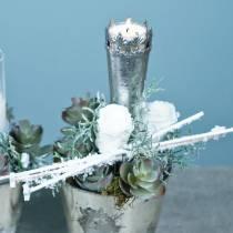 Preserved roses medium Ø4-4.5cm white 8pcs