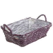 Square basket 29cm x 23cm H10cm dark purple