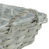 Square basket gray 25cm x 18cm H10cm 1p