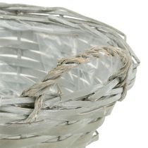 Basket round gray Ø24cm H10cm 1p