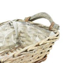 Raffia basket, square, natural 27cm x 19cm