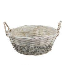 Plant basket round white washed Ø 26.5cm
