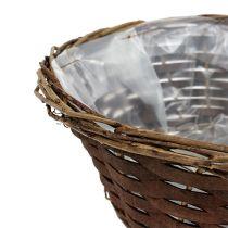Basket bowl around Ø30cm H12cm unpeeled