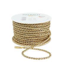 Cord ribbon gold 4mm 25m