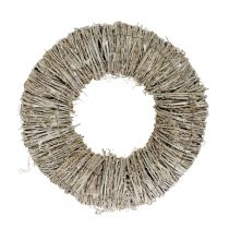 Clematis wreath white washed Ø30cm