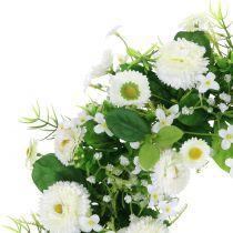 Bellis / Gypsophila Cream wreath Ø30cm