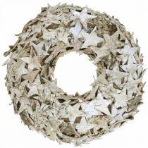 Deco wreath stars birch bark table decoration Advent birch Ø25cm