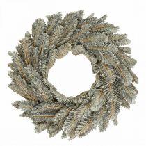 Decorative wreath cones Advent wreath door wreath white, glitter Ø35cm
