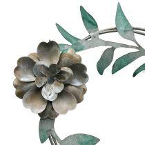 Garden plug flower wreath metal H63cm