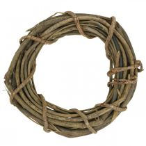 Decorative wreath made of branches nature Ø35cm