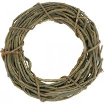 Decorative wreath made of branches natural Ø40cm natural wreath