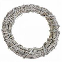 Deco wreath whitewashed natural wreath door wreath Shabby Chic Ø42cm