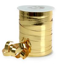 Gathering ribbon shiny 10mm 250m gold