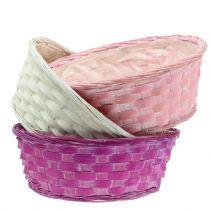 Chip basket round purple / white / pink Ø25cm 6pcs