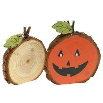 Pumpkin mix made of wood 6cm 12pcs
