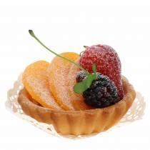 Artificial peach tart Ø8cm