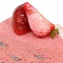 Pie slice strawberry artificial 10cm