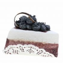 Pie piece of blueberry artificial 10cm