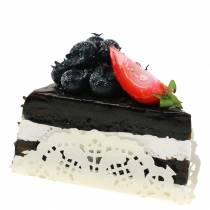 Artificial chocolate cake piece 10cm