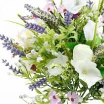 Artificial bouquet, table decorations, silk flowers, spring bouquet colorful