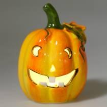 Pumpkin with LED Ø7.5cm H10cm 3pcs