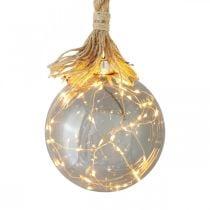 LED ball inside light ball with rope Ø14cm 30L warm white