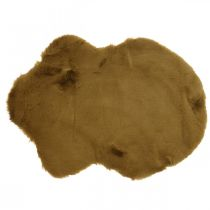 Fur carpet deco brown Artificial fur carpet 55 × 38cm