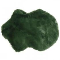 Decorative fur rug green faux fur 55 × 38cm