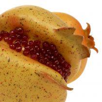 Artificial fruit pomegranate with seeds Ø6cm - Ø7cm L18cm
